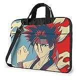 XCNGG Rurouni Kenshin Anime Laptop Hombro Messenger Bag Tablet Computadora Almacenamiento Mochila Bolso 15.6 Pulgadas