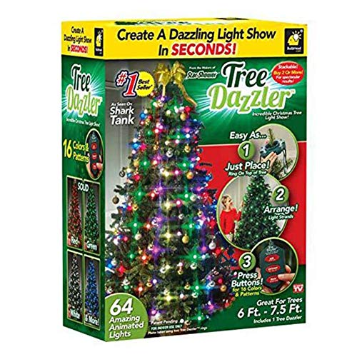 BlingBling 64 Star Shower Tree Dazzler LED Light Show, Xmas Tree...