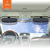 WANPOOL Anti-Glare Car Visor Sunshade Extender for Drivers and Front Seat Passengers (Silver) - 2 Pieces