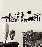 Pegatinas de pared de vinilo abstracto estilo étnico africano aborigen decoración de pared de planta natural