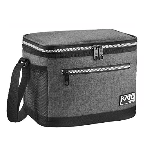 Insulated Lunch Bag for Women Men, Leakproof Thermal Reusable Lunch Box for Adult & Kids by Tirrinia, Lunch Cooler Tote for Office Work, Dark Grey
