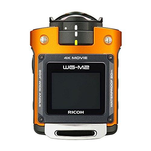 RICOH 防水アクションカメラ WG-M2 オレンジ 4K動画 超広角204度 ハウジング不要 防水20m 耐衝撃2m 03801