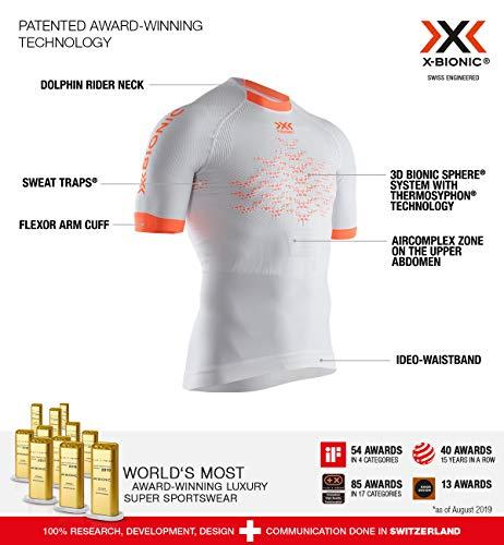 X-Bionic Invent 4.0 Lt T-Shirt Opal Black/Arctic White XXL