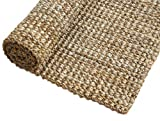 Irongate Classic Jute Solid Handwoven Reversible Ribbed Jute Area Rug, 7'6' X 9'6', Natural