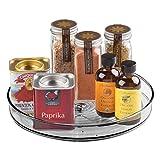 mDesign Especiero giratorio para cocina – Elegante estante para especias, condimentos,...