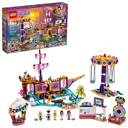 LEGO Friends Heartlake City Amusement Pier 41375 Toy Rollercoaster Building Kit with Mini Dolls and Toy Dolphin, Build and Play Set Includes Toy Carousel, Ticket Kiosk and More (1,251 Pieces) (Toy)