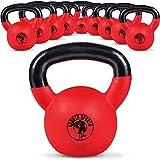 Gorilla Sports Kettlebell Red Rubber 4 kg - Pesa Rusas, Talla One Size
