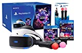 PlayStation VR Pack (Playstation VR + Camera V2 + VR Worlds + Track-Lab + Paire Twin Move Controllers) VR Worlds MultiJeux contient les jeux suivants: - The London Heist, Into The Deep, VR Luge, Danger Ball and Scavenger's Odyssey - Excellente expéri...