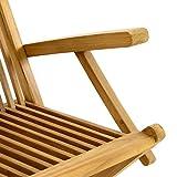 DIVERO 4er-Set Klappstuhl Teakstuhl Gartenstuhl Teak Holz Stuhl mit Armlehne für Terrasse Balkon - 3