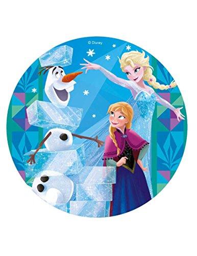 Disco di ostia Frozen con le principesse 20 cm Taglia Unica