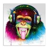 ZWBBO Mural Colorido Animal chimpancé Lienzo Pintura Mono Pared Arte Carteles e Impresiones Cuadros para decoración de Sala de estar-70x100cm