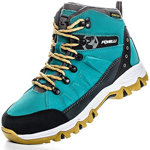 Foxelli Women's Hiking Boots – Waterproof Suede Leather Hiking Shoes for Women, Breathable, Comfortable & Lightweight Hiking Boot