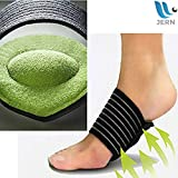JERN Extra Thick Plantar Fasciitis Brace - Cushioned Compression Arch Support Sleeves for Heel Spurs, Flat Feet, High Arches, Achy Foot Pain - 1 Pair
