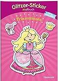 Glitzer-Sticker Malbuch. Prinzessinnen: Mit 45 glitzernden Stickern! (Malbücher und -blöcke)