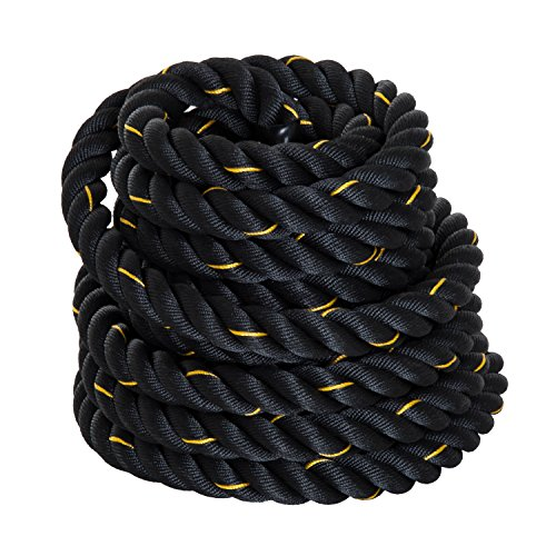 HOMCOM Cuerda de Batalla Battle Rope Formación Battling Power Cuerda...