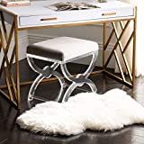Safavieh Sheepskin Collection SHS121A Genuine Sheepskin Pelt White Premium Shag Rug (2' x 3')
