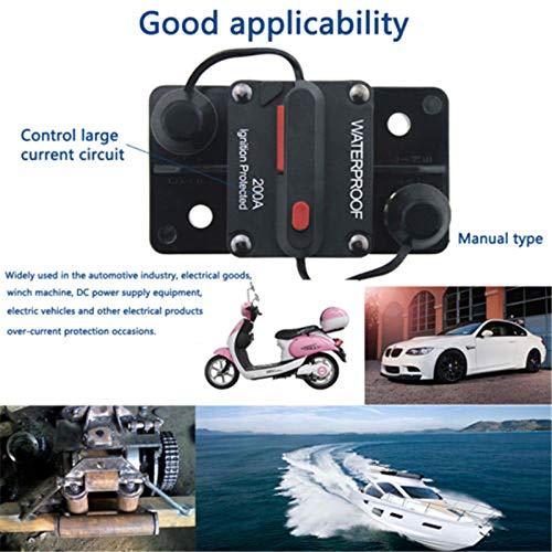 Mottdam Schutzschalter 50-300A,Leitungsschutzschalter 50 AMP Reset Sicherung 12-48V DC Sicherung Auto Boot Leistungsschalter(50A)