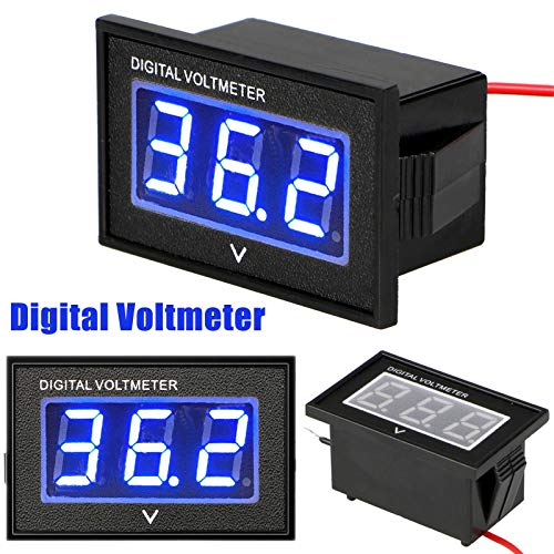 Linkstyle 36 Volt LED Digital Volt Meter Indicatore di Livello Batteria, Impermeabile Golf Cart Club...
