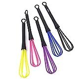 Tinksky 5pcs Plastic Whisk Whip Mixer Stirrer Whisk (Random Color)
