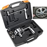 MRCARTOOL 1/2' Torsion Torque Multiplier Wrench 3200N.M Lug Nut Remover Labor Saving Wrench with 3 Sockets