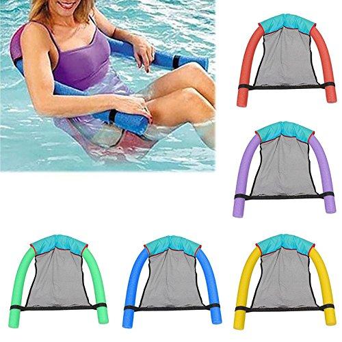 KongLyle Schwimm-Stuhl, Pool-Sitze, erstaunliche schwimmende Liege, Nudel-Stühle, Sommer, blau, 7cm x 130cm