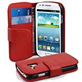 Cadorabo Coque pour Samsung Galaxy S3 Mini en Rouge Cerise - Housse Protection...