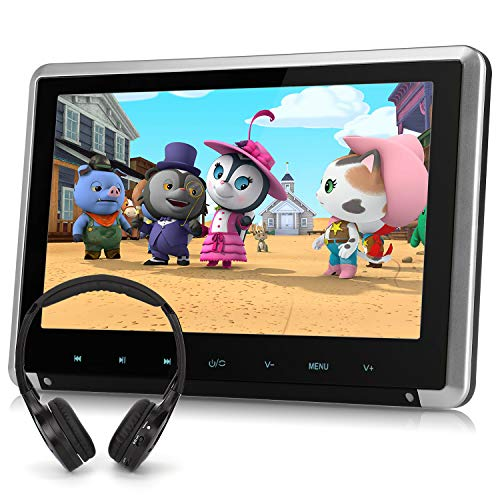 10.1' Car DVD Player with Free Wireless Headphone Support HDMI Input, Sync Screen, AV in & Out, Last Memory, USB SD - NAVISKAUTO