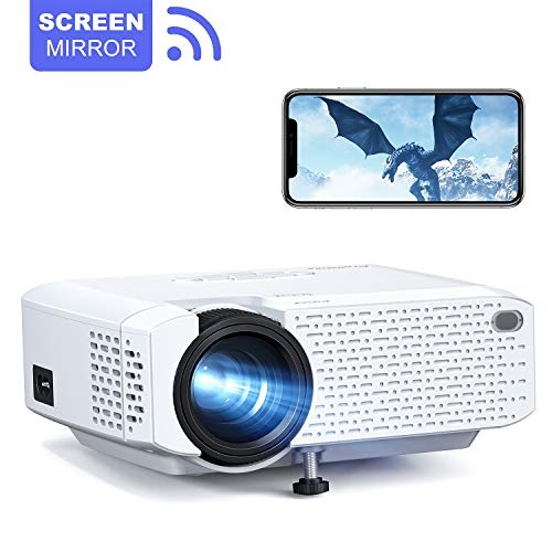 Crosstour Proiettore Wi-Fi, Mini Videoproiettore Portatile per Telefono Supporto Full HD Home Cinema...