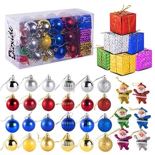 Dioxide Bolas de Navidad, 36 Bolas de Decoración Navideña, Bolas de Adornos Navideños BrillantesNavideño para Colgar en la Pared Adornos