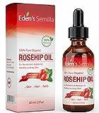 100% Pure Huile de Rose Musquée - 60ml - Certifié BIOLOGIQUE - Revitalise la...