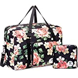 Bolsa de viaje plegable, ideal para fines de semana o llevar al gimnasio, con abertura para asa de maleta