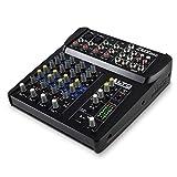 ALTO Professional ZMX 862 – Table de Mixage Compacte 6 Voies de Qualité Studio avec 2 Entrées XLR pour Microphone, 2 Entrées Stéréos et 2 Sorties AUX