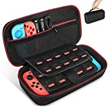 Keten Etui pour Nintendo Switch, Portable Housse de Transport de Voyage avec Espace de Stockage pour...