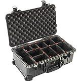 Peli Case 1510 Trekpak - Maletín con ruedas para cámara de fotos, resistente al agua, IP67, color negro