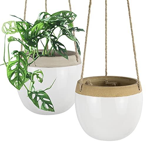 Ceramic Hanging Planters Plant Pots - 5.5 Inch...