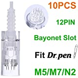 Dr. Pen Replacement Cartridges Disposable Needles, Compatible With Dr. Pen Ultima M5/M7/N2, Individually and Sealed Bags in Dr. Pen Original Box (10pcs 12 Pins)