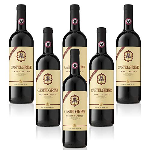 Chianti Classico DOCG Riserva Castelgreve Castelli del Grevepesa Castelgreve Vino Rosso italiano (6 bottiglie 75 cl.)