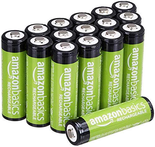AmazonBasics AA Rechargeable Batteries (16-Pack) Pre-charged