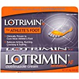 Lotrimin AF Antifungal Cream for Athlete's Foot, .85-Ounce Tubes (Pack of 2)