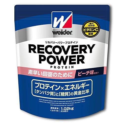 ウイダー リカバリーパワープロテイン ピーチ味 1.02kg (約34回分) 運動後の回復 ビタミンC配合
