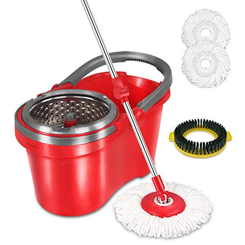 Hapinnex Spin Mop With Bucket