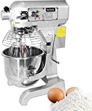 Stand Mixer - Commercial Cake Stand Mixer for Restaurant Kitchen Hotel - Kitchenaid Mixer Dough Maker with Stainless Steel Bowl Dough Hooks Whisk Beater Safety Guard 3-Speed Control 20 Quart, 1100W