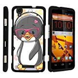 Compatible with ZTE Max+ Plus Case | ZTE Max Case | Max Boost [Slim Duo] Hard Shell Snap On Case Compact Cover Matte on Black Sea Ocean Design by TurtleArmor - Cute Penguin