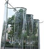 Bâches Bâche Transparente Imperméable En PVC Avec Oeillets, Bâche Transparente Résistante Aux Déchirures pour Jardinerie De Jardin Extérieur (350g / M², 550g / M²) (Color : 0.5mm, Size : 2.4×5m)
