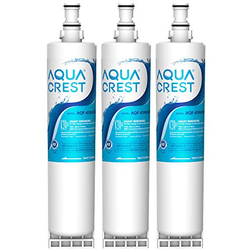 AQUACREST 4396508 Refrigerator Water Filter, Compatible with Whirlpool 4396508, 4396510, Filter 5, 46-9010, PUR W10186668, NLC240V (Pack of 3)