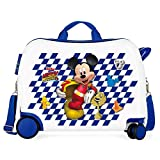 Disney Mickey Good Mood Maleta Infantil Multicolor 50x38x20 cms Rígida ABS Cierre combinación 34L 2,1Kgs 4 Ruedas Equipaje de Mano