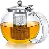 Théière Teabloom Classica - Théière en verre résistant à la chaleur - 1200...