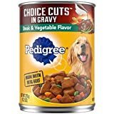 PEDIGREE CHOICE CUTS IN GRAVY Adult Canned Wet Dog Food, 13.2 Oz (Pack of 12)