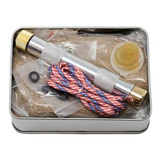 American Heritage Industries Fire Piston Kit- Firestarter Kit with Char Cloth, Cord, and Tinder, Survivalist and Prepper Gift, Easily Start Your Next Campfire