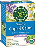 Traditional Medicinals Organic Cup of Calm Relaxation Tea, 16 Tea Bags (Pack of  6)